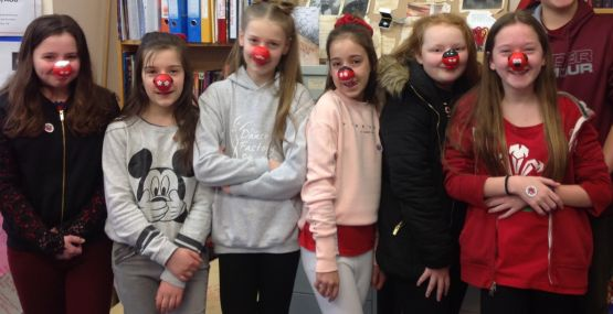 Highclare students red nose day comic relief