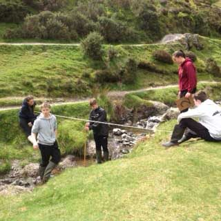 Independent School pupils from Birmingham conduct physical geography fieldwork for the new GCSE specification