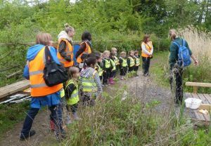 Highclare Pre-School pupils ready to go pond dipping
